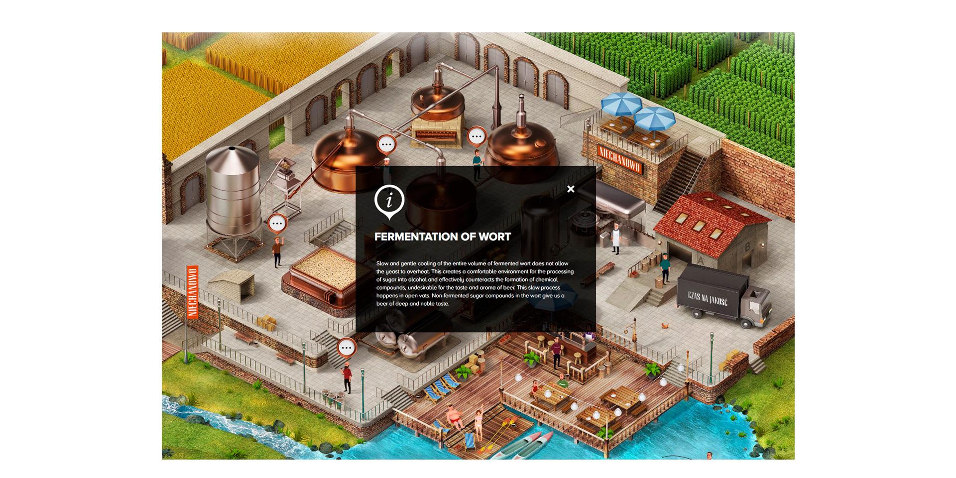 Galeria projektu Interaktywna mapa browaru